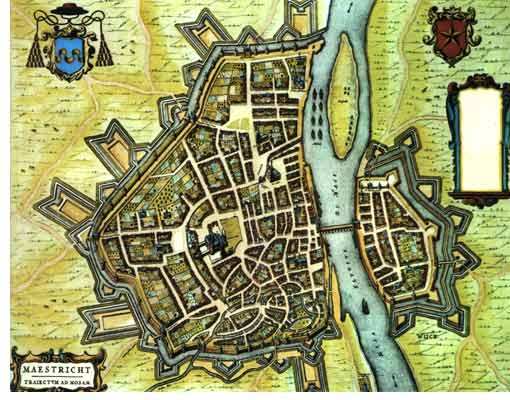 Old city map of Maastricht