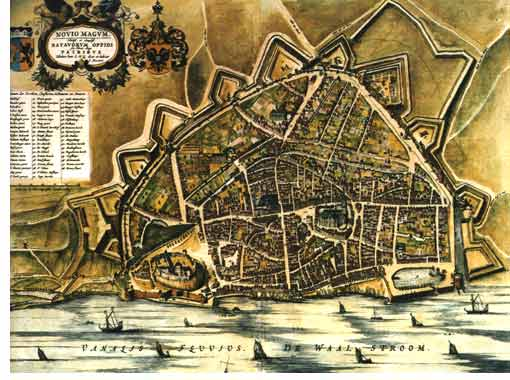 Old city map of Nijmegen